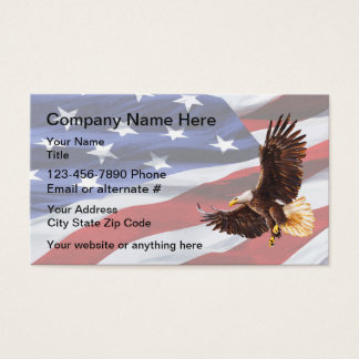 Cartes De Visite Thème americana patriotique Businesscards