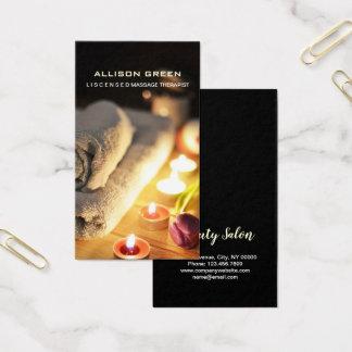 Cartes De Visite Thérapeute de massage de salon de SPA