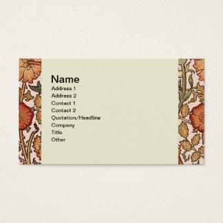 Cartes De Visite Tissu rose vintage de concepteur de motif floral