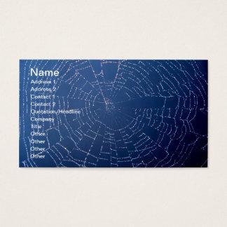 Cartes De Visite Toile d'araignée