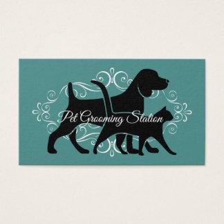 Cartes De Visite Toilettage chic d'animal familier