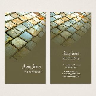 Cartes De Visite Toiture, toit d'ardoise de photo