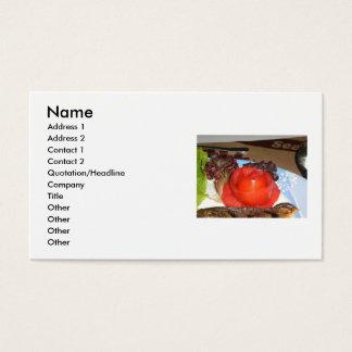 Cartes De Visite Tomatoe a formé dans la fleur rose