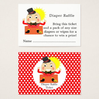 Cartes De Visite Tombola de couche-culotte de bébé de comptine de