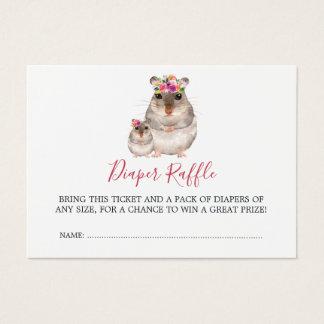 Cartes De Visite Tombola de couche-culotte de souris de maman et de