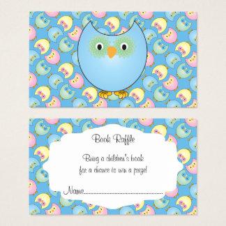 Cartes De Visite Tombola mignonne bleue en pastel de livre de bébé