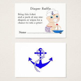 Cartes De Visite Tombola nautique de couche-culotte de baby shower