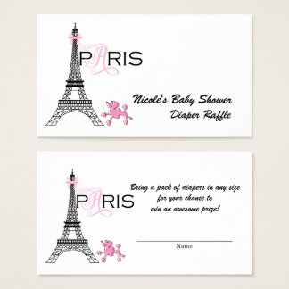 Cartes De Visite Tombola rose de couche-culotte de Paris France de