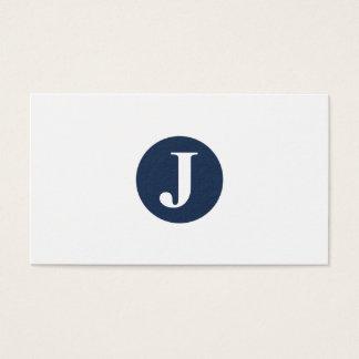 Cartes De Visite Tout cercle de couleur ! Monogramme classique