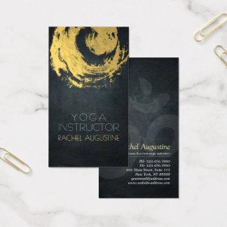 Cartes De Visite Traçages de symbole de ZEN de YOGA élégant de noir