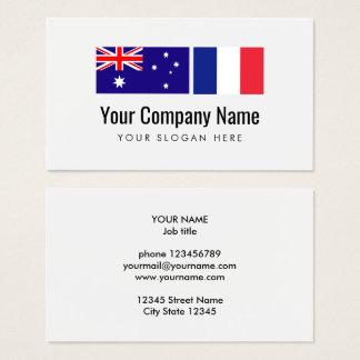 Cartes De Visite Traducteur anglais-français australien de