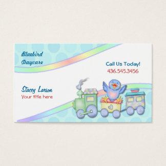 Cartes De Visite Train d'oiseau bleu pour la garde ou la babysitter