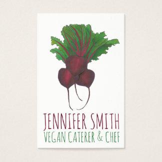 Cartes De Visite Traiteur végétalien végétarien de chef de groupe
