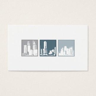Cartes De Visite Tri Carrés - bâtiments