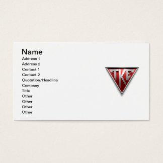 Cartes De Visite Triangle de TKE