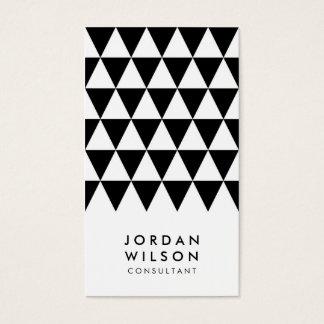 Cartes De Visite Triangle minimaliste blanche noire géométrique