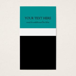 Cartes De Visite Turquoise de cravate noire