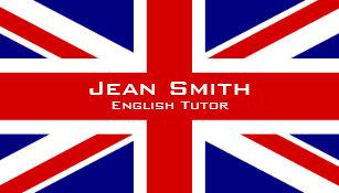 Cartes De Visite Tuteur Professeur DAnglais Anglais Avec Le