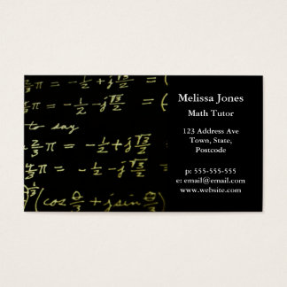 Cartes De Visite Tuteur/professeur de maths de tableau noir