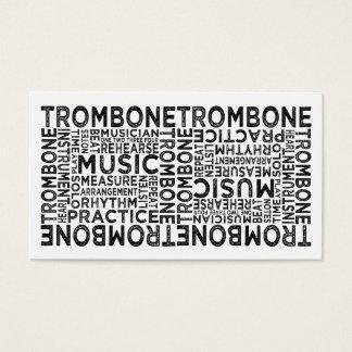 Cartes De Visite Typographie de trombone