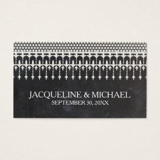 Cartes De Visite Typographie vintage rustique de manuscrit de