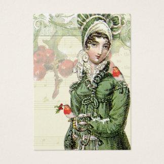 Cartes De Visite Un Noel joyeux Jane Austen a inspiré l'étiquette