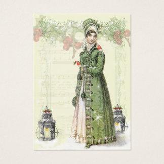 Cartes De Visite Un Noel joyeux Jane Austen a inspiré l'étiquette b