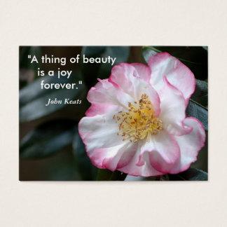 """Cartes De Visite """"Une chose de beauté    est une joie…"""