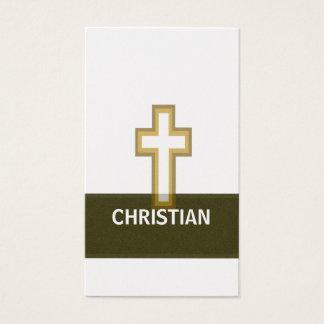 Cartes De Visite Une croix d'or chrétienne de foi
