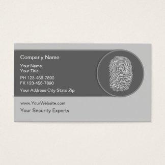 Cartes de visite uniques de sécurité