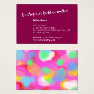 Cartes De Visite Utilisation maximale de couleur
