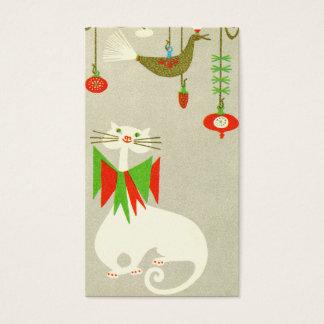 Cartes De Visite Vacances Kitty d'étiquette de cadeau de chat de