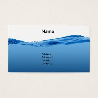 Cartes De Visite Vague d'eau bleue