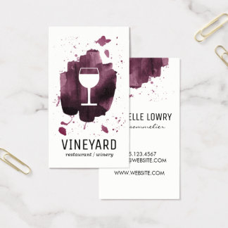 Cartes De Visite Verre balayé expressif de texture/vin