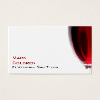 Cartes De Visite Verre de vin avec le vin rouge