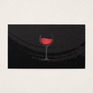 Cartes De Visite Verre noir balayé artistique de vin rouge