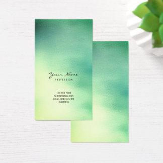 Cartes De Visite Verre tropical jaune turquoise vert vert en bon