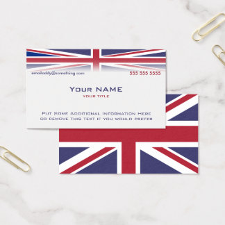 Cartes De Visite Version 2 d'Union Jack