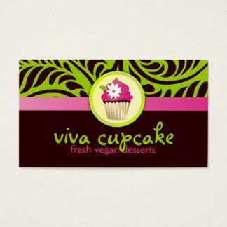 Cartes De Visite Vert de petit gâteau de 311 vivats