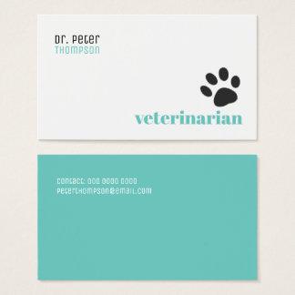 Cartes De Visite vétérinaire vétérinaire. animaux familiers/patte