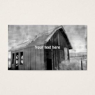 Cartes De Visite Vieille construction de cabane, démolition, se