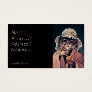 Cartes De Visite Vieille Madame chat