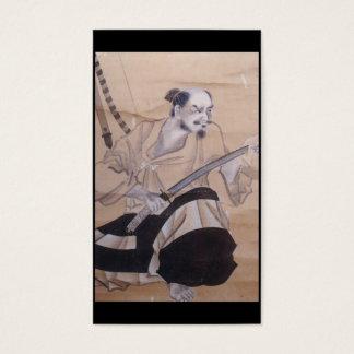 Cartes De Visite Vieille peinture samouraï japonaise