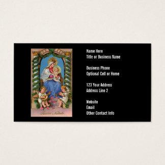 Cartes De Visite Vierge Marie et ministre chrétien de Jésus | de