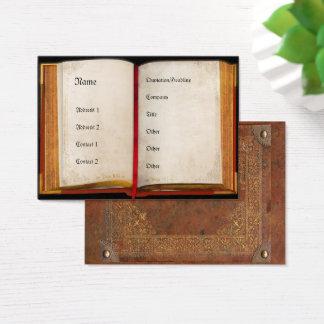 Cartes De Visite Vieux livre ouvert