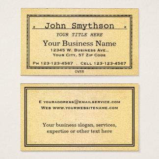 Cartes De Visite Vieux papier âgé antique simple