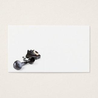 Cartes De Visite Vieux téléphone noir avec le cadran rotatoire