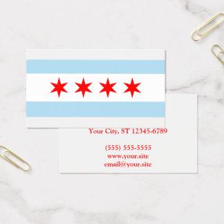 Cartes De Visite Ville de drapeau de Chicago