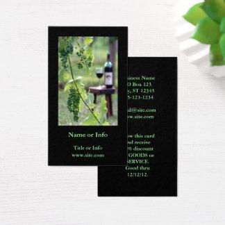 Cartes De Visite Vin dans le vignoble