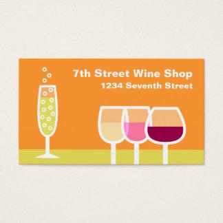 Cartes De Visite Vin et Champagne